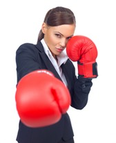 boxer business woman